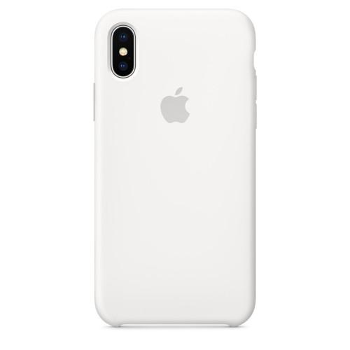 Купить Силиконовый чехол Silicone Case OEM iPhone X/XS White