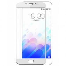 Защитное стекло Meizu M3 E (white) full cover