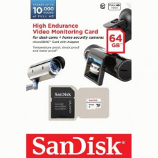Карта памяти SanDisk microSDXC High Endurance 64GB Class10 + SD-adapter (SDSDQQ-064G-G46A)