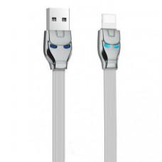 Кабель Hoco U14 Iron Man Lightning Cable 1.2m Gray