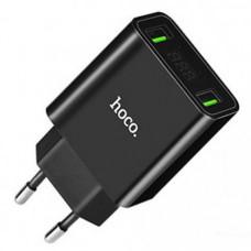 Сетевое зарядное устройство Hoco C25A Cool 2.2A 2USB Black