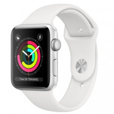 Apple Watch Series 3 42mm (GPS) Silver Aluminum Case with White Sport Band (MTF22)