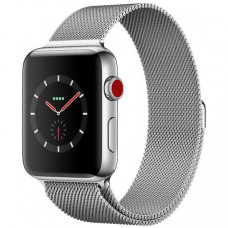 Apple Watch Series 3 38mm (GPS+LTE) Stainless Steel Case with Milanese Loop (MR1F2)