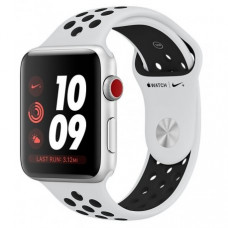 Apple Watch Series 3 Nike+ 42mm (GPS+LTE) Silver Aluminum Case with Pure Platinum/Black Nike Sport Band (MQLC2)