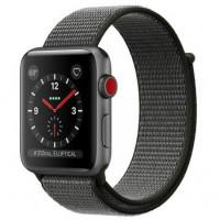 Apple Watch Series 3 38mm (GPS+LTE) Space Grey Aluminium Case with Dark Olive Sport Loop (MQJT2)