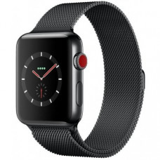 Apple Watch Series 3 38mm (GPS+LTE) Space Black Stainless Steel Case with Space Black Milanese Loop (MR1H2)