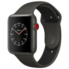 Apple Watch Series 3 42mm (GPS+LTE) Gray Ceramic Case with Gray/Black Sport Band (MQKE2)