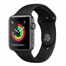 Apple Watch Series 3 38mm (GPS) Space Gray Aluminum Case with Black Sport Band (MQKV2/MTF02)