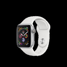 Apple Watch Series 4 40mm (GPS) Silver Aluminum Case with White Sport Band (MU642)