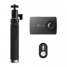 Видеокамера Xiaomi Yi 4K Black Selfie Stick+Bluetooth Remote (YI-90008)