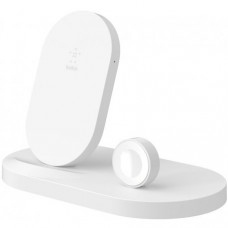 Док-станция Belkin Qi Wireless для Apple Watch + iPhone + USB White (F8J235VFWHT)