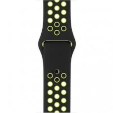 Спортивный ремешок Nike Sport Band для Apple Watch 42mm Black/Volt (MQ2Q2)