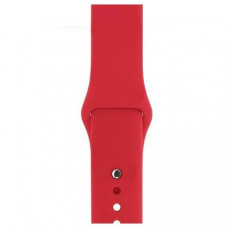 Спортивный ремешок Silicon Band для Apple Watch 38/40mm M/L 2pcs  Red