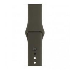 Спортивный ремешок Silicon Band для Apple Watch 38/40mm M/L 2pcs  Dark Olive
