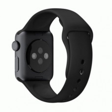 Ремешок для Apple Watch 38mm Black Sport Band with Space Gray Stainless Steel Pin (MJ4G2)