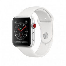 Apple Watch Series 3 38mm (GPS+LTE) Silver Aluminum Case with White Sport Band (MTGG2)