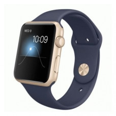 Apple Watch Series 1 42mm Gold Aluminum Case with Midnight Blue Sport Band (MQ122)