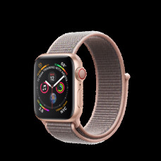 Apple Watch Series 4 40mm (GPS+LTE) Gold Aluminum Case with Pink Sand Sport Loop (MTUK2)