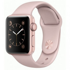 Apple Watch Series 1 42mm Rose Gold Aluminum Case with Pink Sand Sport Band (MQ112)