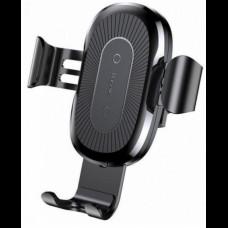 Автомобильный держатель Baseus Wireless Charger Gravity Car Mount 1.67A 10W black (WXYL-01)