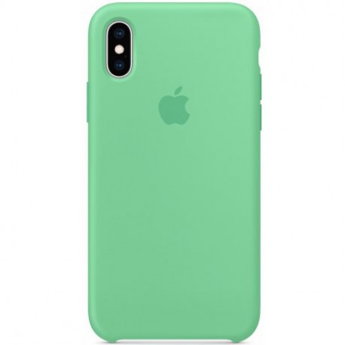 Купить Чехол Apple iPhone XS Silicone Case Spearmint (MVF52)