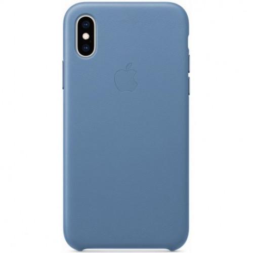 Купить Чехол Apple iPhone XS Max Leather Case Cornflower (MVFX2)