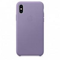 Чехол Apple iPhone XS Leather Case Lilac (MVFR2)