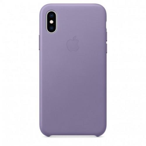 Купить Чехол Apple iPhone XS Leather Case Lilac (MVFR2)