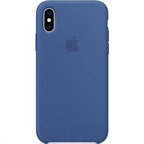 Купить Чехол Apple iPhone XS Silicone Case Delft Blue (MVF12)