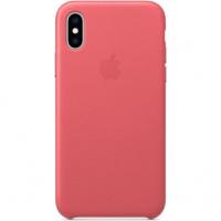 Чехол Apple iPhone XS Leather Case Peony Pink (MTEU2)