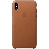 Чехол Apple iPhone XS Max Leather Case Saddle Brown (MRWV2)