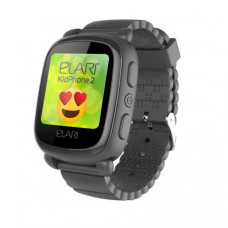 Детские телефон-часы с GPS-трекером Elari KidPhone 2 Black (KP-2B)