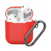 Чехол Silicone Case для Apple AirPods 2 with Carbine Red
