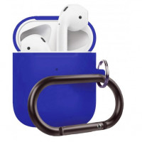 Чехол Wireless Silicone Case для Apple AirPods 2 with Carbine Sky Blue
