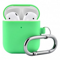 Чехол Silicone Case для Apple AirPods 2 with Carbine Green