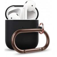 Чехол Wireless Silicone Case для Apple AirPods 2 with Carbine Black