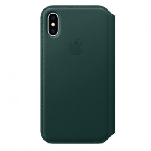 Купить Чехол Apple iPhone XS Leather Folio Forest Green (MRWY2)