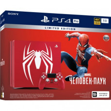 PlayStation 4 Pro 1Tb Red (CUH-7108B) Limited Edition Bundle + Marvel Человек-паук
