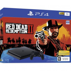 PlayStation 4 Slim 1TB Black (CUH-2208B) Bundle + Red Dead Redemption 2