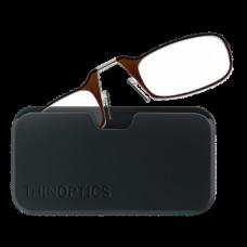 Очки Thinoptics +2.50 Коричневые + Чехол универсальный черный (2.5BRBUP)