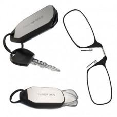 Очки для чтения Thinoptics +1.00 Черные + Брелок для ключей (1.0BBKH)