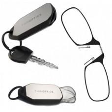 Очки для чтения Thinoptics +1.50 Черные + Брелок для ключей (1.5BBKH)