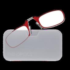 Очки для чтения Thinoptics +2.00 Красные + Чехол универсальный Прозрачный (2.0REDWUP)