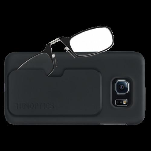 Купить Очки для чтения Thinoptics +1.50 Черные + Чехол Galaxy S6 Черный (1.5BBS6)