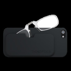 Очки для чтения Thinoptics +1.50 Прозрачные + Чехол iPhone 5/5S Черный (1.5CBI5)