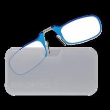 Очки Thinoptics +2.50 Голубые + Чехол универсальный прозрачный (2.5BLUWUP)