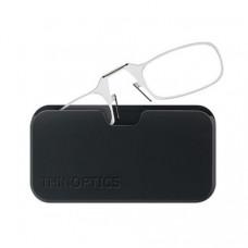 Очки Thinoptics +1.50 Прозрачные + Чехол универсальный черный (814493020038)