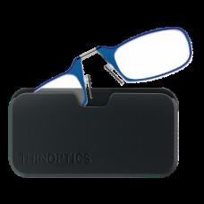 Очки для чтения Thinoptics +2.00 Голубые + Чехол универсальный Черный (2.0BLUBUP)