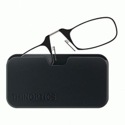 Купить Очки для чтения Thinoptics +2.50 Черные + Чехол универсальный Черный (2.5BBUP)
