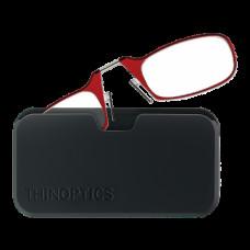 Очки для чтения Thinoptics +2.00 Красные + Чехол универсальный Черный (2.0REDBUP)